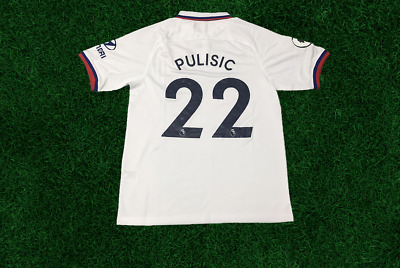 Pulisic 22 Chelsea 1920 Season The Premier League First Away Jersey White