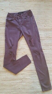 Purple Misses Juniors Angel Kiss Stretch Super Soft Ripped Jeans Size 0 Low Rise