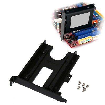 PCI Slot 2-5inch HDD SSD Rear Panel Mount Bracket Hard Drive Adapter Tray C ROS