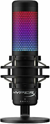 HyperX QuadCast S RGB USB Condenser Microphone for PC PS4 PS5 and Mac Gaming