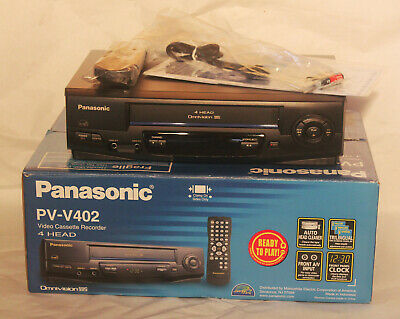Panasonic PV-V402 VHS VCR New In Open Box Sealed Remote Instructions Cables
