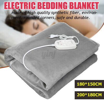 Electric Heated Throw Flannel Blanket Adjustable Temperature 71X59 79 X 71