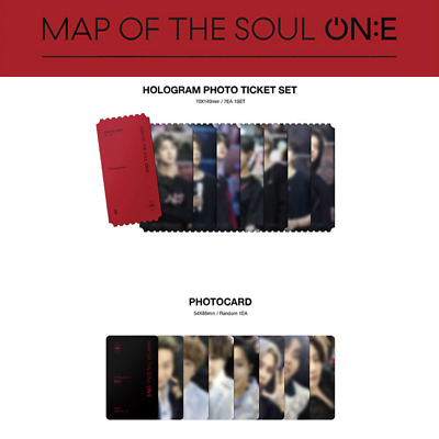 BTS - MAP OF THE SOUL ONE DVD PHOTO CARD HOLOGRAM PHOTO TICKET SET