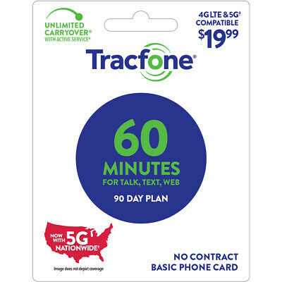 TracFone 19-99 Basic Phone Plan 60 Minutes 90 Days Email Delivery