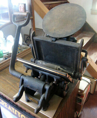 Kelsey 6x10 side lever letterpress - and Accessories
