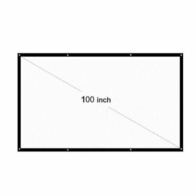 1x 100in HD Portable Projection Projector Screen Fabric 169 Home Cinema Theater