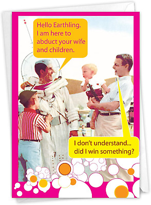 NobleWorks - Funny Fathers Day Card with Envelope - Humor Greeting Card for -
