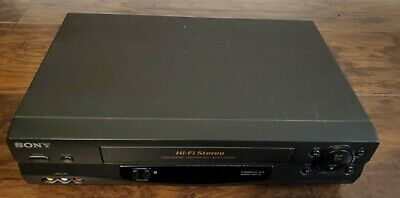 Sony SLV-N55 VHS VCR Video Cassette Recorder Player Tested Works No Remote