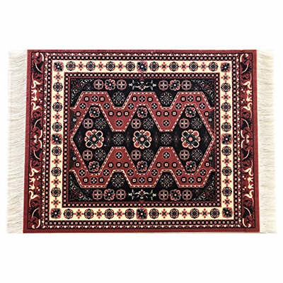 Oriental Rug Mouse Pad - Turkish Style Carpet Mousemat - Great Gift Red-Black