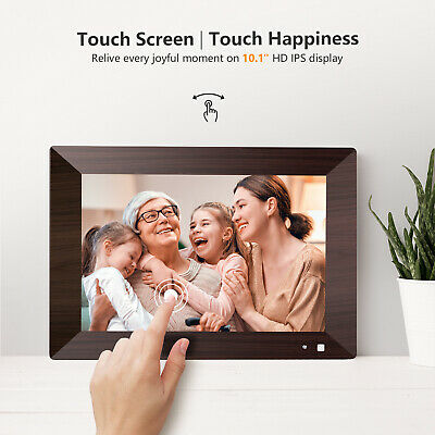 WIFI Digital Picture Frame 10-1 inch HD Touch Screen Motion Sensor 16GB Storage