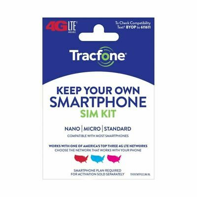 TracFone Keep Your Own Phone 3-in-1 Prepaid SIM Kit - Free Ship