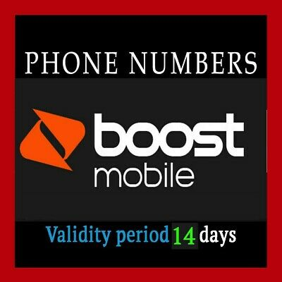Boost Mobile port number-ANY Area Code   Good For 14 Days  Fast Delivery