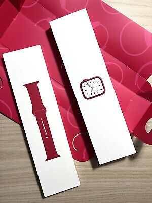 Apple Watch Series 7 45MM Product Red Alu Red Sport Band GPS Empty Box only