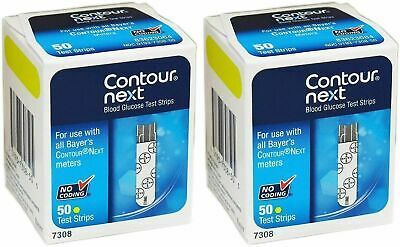 Contour Next Blood Glucose Test Strips 100  2 x Boxes of 50  EXP late 2022