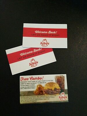 3  Arbys Combo Meal Voucher NO EXPIRATION Shipping 1 Business Day