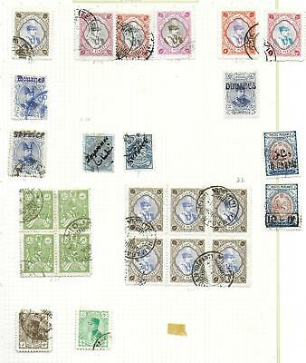 Postes Persanes stamps Collection of 25 CLASSIC stamps HIGH VALUE