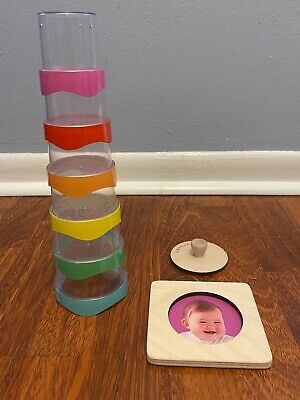 Lovevery Stacking Toy with holes great for playing inwith water First Puzzle