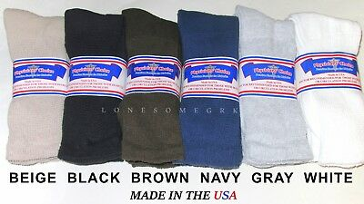 6 Mens Physicians Choice Cushioned Diabetic Crew Socks 10-13 Sock Size USA Made