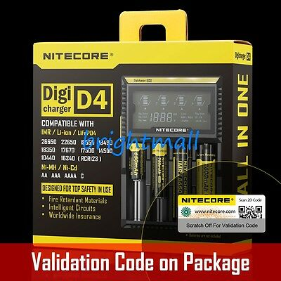 NEW 2019  NITECORE D4 Digi charger For 18650 14500 18350  Li-ion - Ni-MH