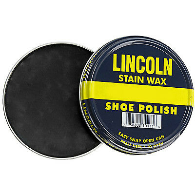 Lincoln Stain Wax Shoe Polish 3 oz  13 COLORS Black Brown Neutral - more