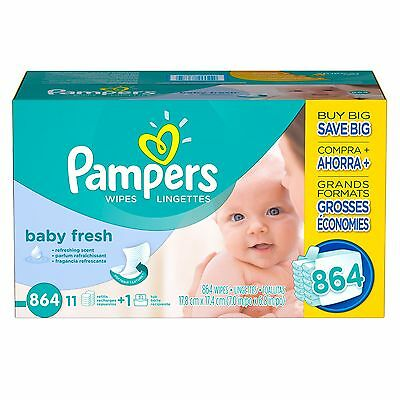 PAMPERS Soft Care Baby Wipes 864 ct- 0-03each BABY FRESH - FREE SHIPPING