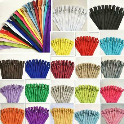 hot 50100pcs Nylon Coil Zippers Tailor Sewer Craft 9 Inch Crafters -FGDQRS