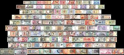 100 Pieces PCS of Different World MIX Foreign BanknotesCurrencyUncirculated