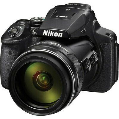 Nikon COOLPIX P900 16MP Digital Camera with 83x Optical Zoom Lens In Black NEW