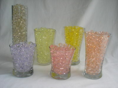 Water Beads - Bulk size pack - use with fresh - silk florals - Vase gel fillers