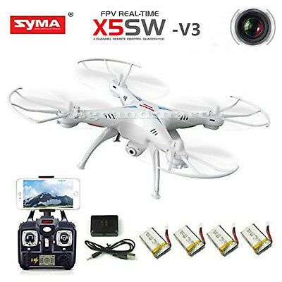 Syma X5SW-V3 Wifi FPV RC Drone Quadcopter 2-4Ghz 6-Axis Gyro with Headless Mode