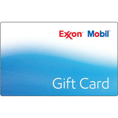 10  25  50 ExxonMobil Gas Gift Card - Mail Delivery