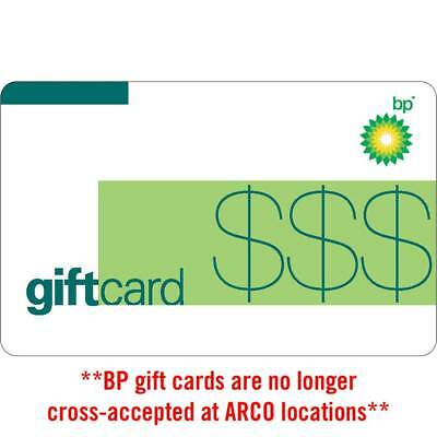 10  25  50 BP Gas Physical Gift Card - Standard 1st Class Mail Delivery