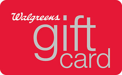 10  25  50  100 Walgreens Gift Card - Mail Delivery