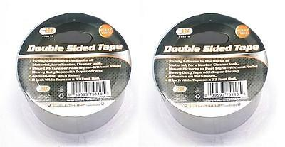 2 ROLLS 2 Wide 33 Foot Long Double Sided Adhesive Clear Tape