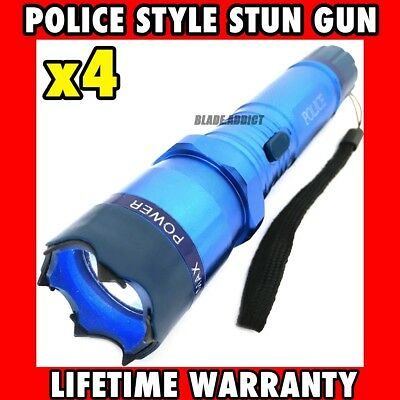 METAL POLICE 17 Baseball Bat Style Stun Gun 300MV LED Flashlight Rechargeable