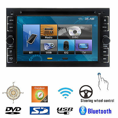 Double 2 Din  6-2 In Dash Car Stereo Radio Mp3 DVD Player  Bluetooth Ipod TV HD