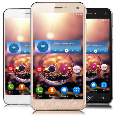 Cheap Unlocked 5 Android 5-1 Mobile Smart Phone Quad Core Dual SIM WiFi GPS 3G