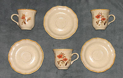 Mikasa Qty 3 ea- Country Charm Saucers and Country Charm Strawflowers Cups
