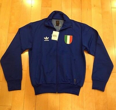 ADIDAS TRACK JACKET ITALIA ITALY WORLD CUP BLUE RED NEW NWT SIZE SMALL  739865 A