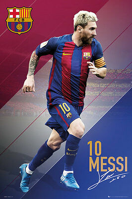 LIONEL MESSI 2017 - BARCELONA POSTER - 24x36 FOOTBALL SOCCER FC 34173