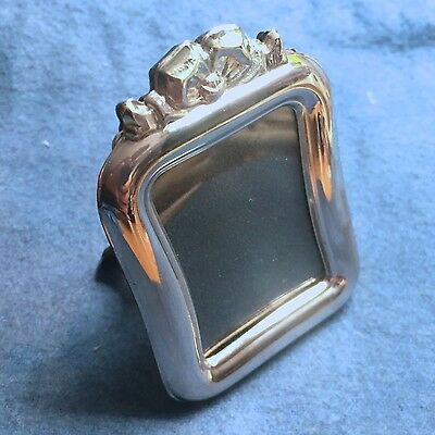Vintage Miniature Sterling Silver 925 Picture Frame - Salome Rect- w Bow
