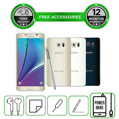 Samsung Galaxy Note 5 N920 32GB 64GB  Smartphone Unlocked Sim Free All Colours