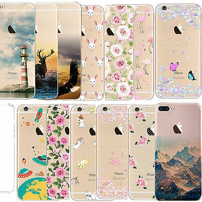 Ultra Slim Soft TPU Silicone Clear Shockproof Case Cover For iPhone 7 6 6s Plus