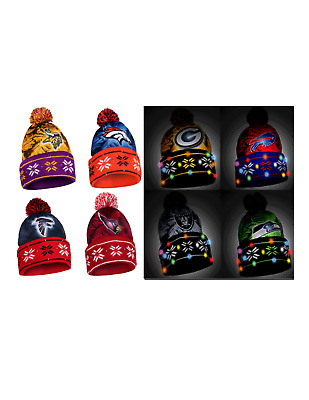 NFL Football Team Logo Big Logo LIGHT UP Beanie - Pick Your Team