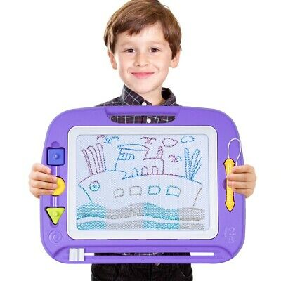 Kids Drawing Board Magnetic Writing Sketch Pad Erasable Magna Doodle children