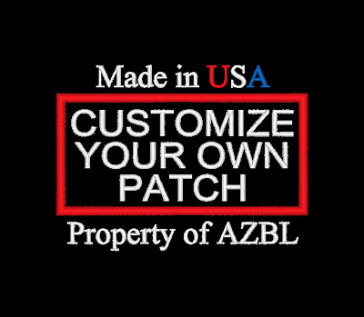 Custom Embroidered Personalized Embroidery Funny Saying Patch Biker MADE IN USA