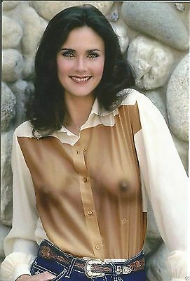 Lynda Carter Posing With Transparency 8x10 Picture Celebrity Print