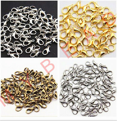 50100Pcs Jewelry Lobster Clasp Parrot Claw Diy necklace bracelet 10mm 12mm 14mm