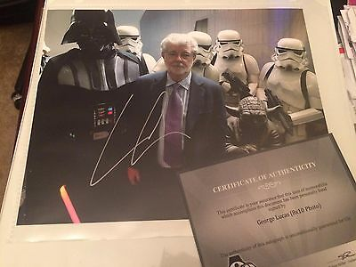 GEORGE LUCAS autographed 8x10 photo hand signed authentic Star Wars COA