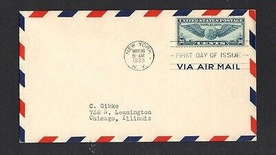 US Scott C24 Airmail First Day Cover Cat- Value 20-00